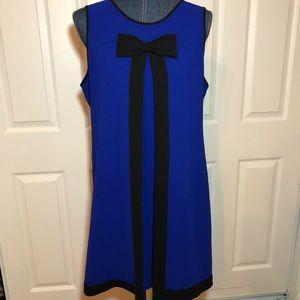 Cece royal blue dress with black bow